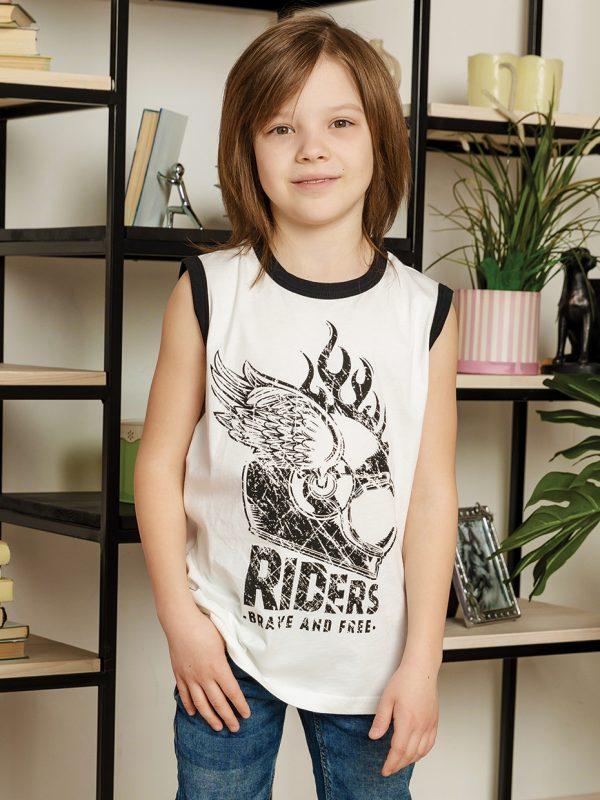 Chlapecké tričko Riders - bílá Bílá, Černá, Červená