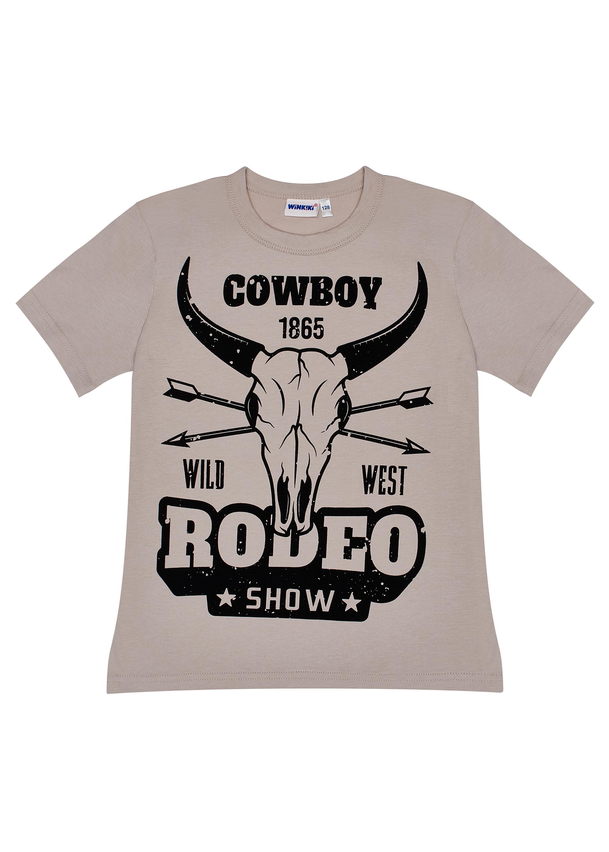 Chlapecké tričko Rodeo Šedá/Písková