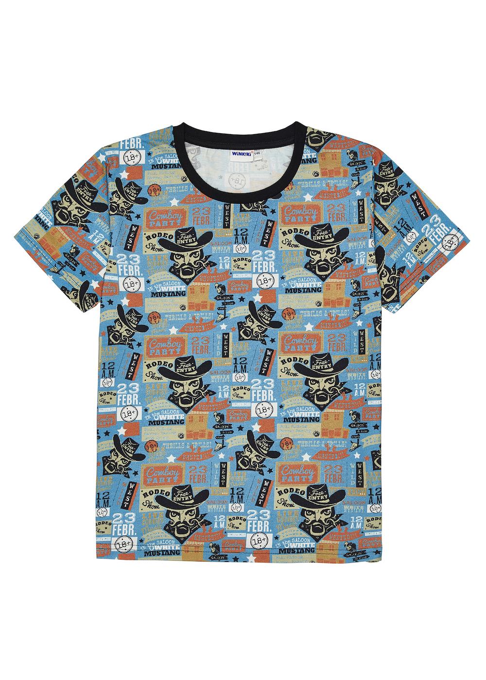 Chlapecké tričko Wild Wild West Modrá