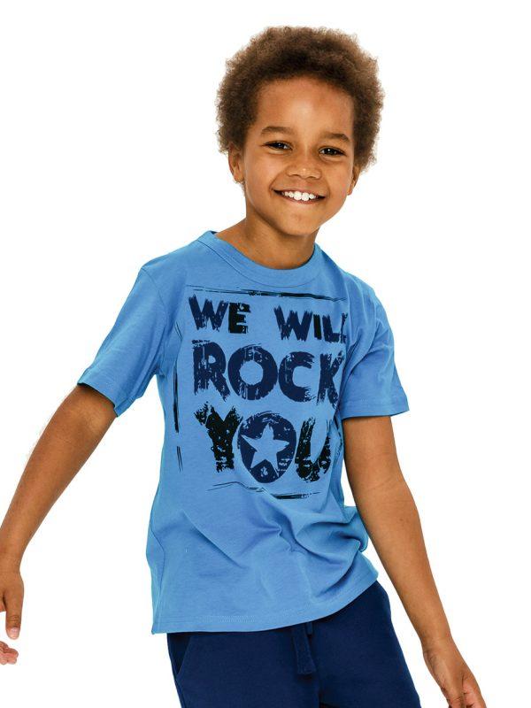 Chlapecké tričko We Will Rock You - modrá Modrá, Navy