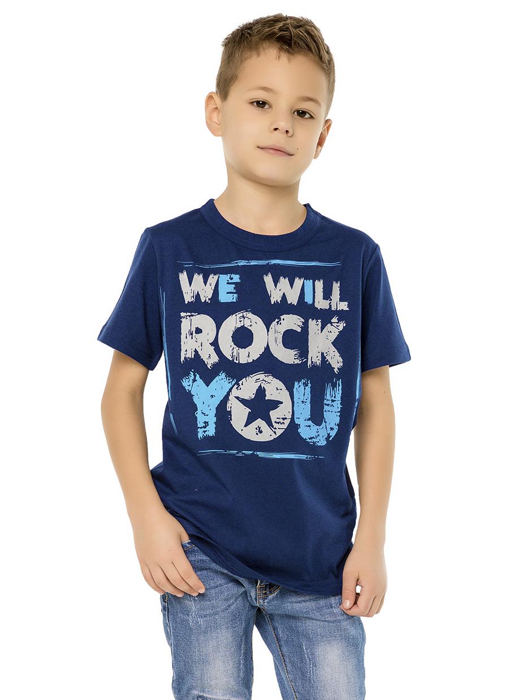 Chlapecké tričko We Will Rock You - NAVY Modrá, Navy