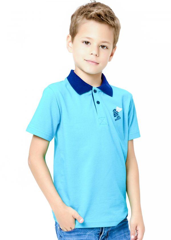 Chlapecké tričko Polo Motoclub - tyrkysová Červená, Navy, Tyrkysová
