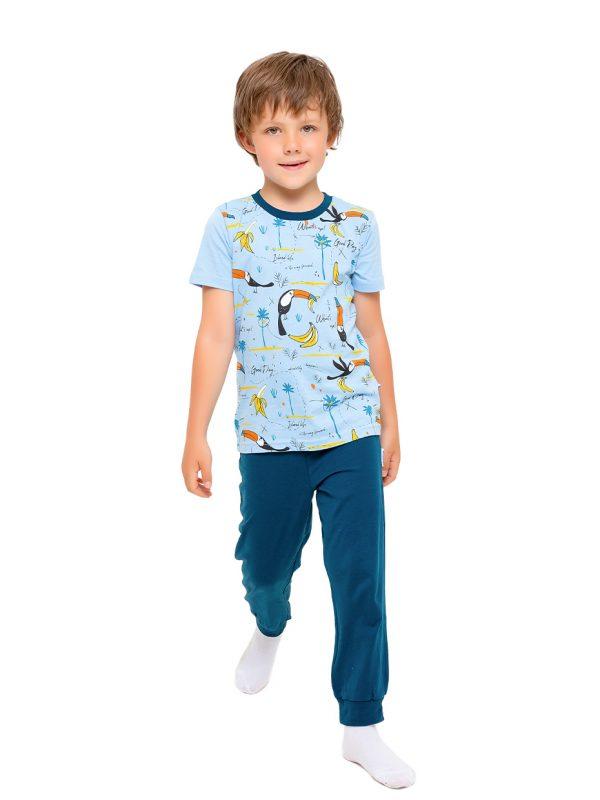 Chlapecké pyžamo Hawaii Modrá/Tmavě-modrá