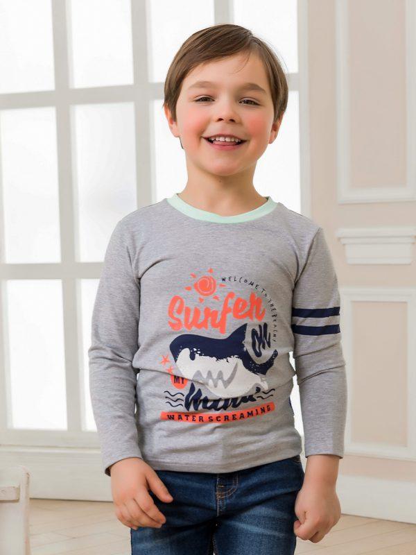 Chlapecké tričko Surfer - šedá Šedý melanž