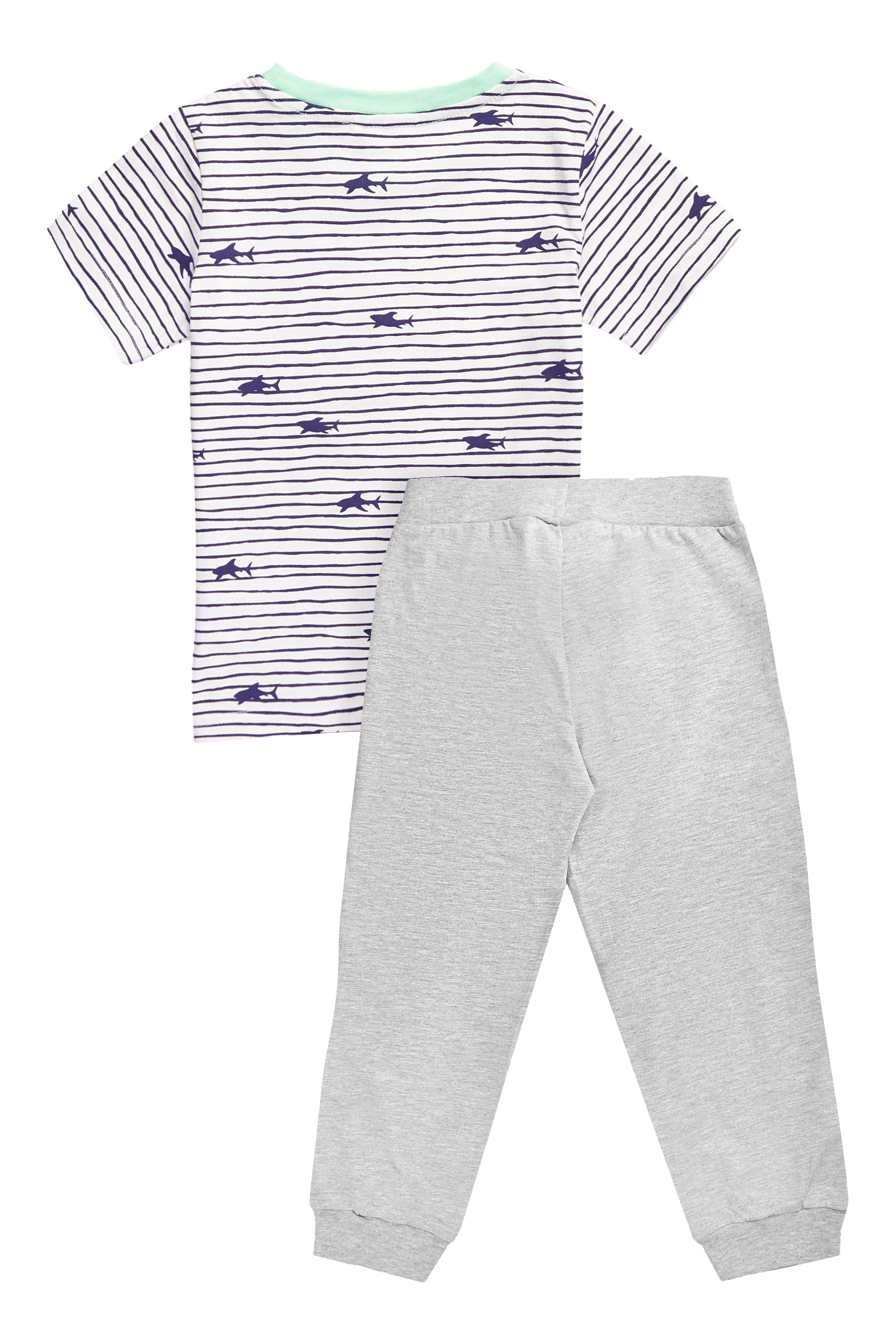 Chlapecké pyžamo Marine Bílá/Šedý melanž
