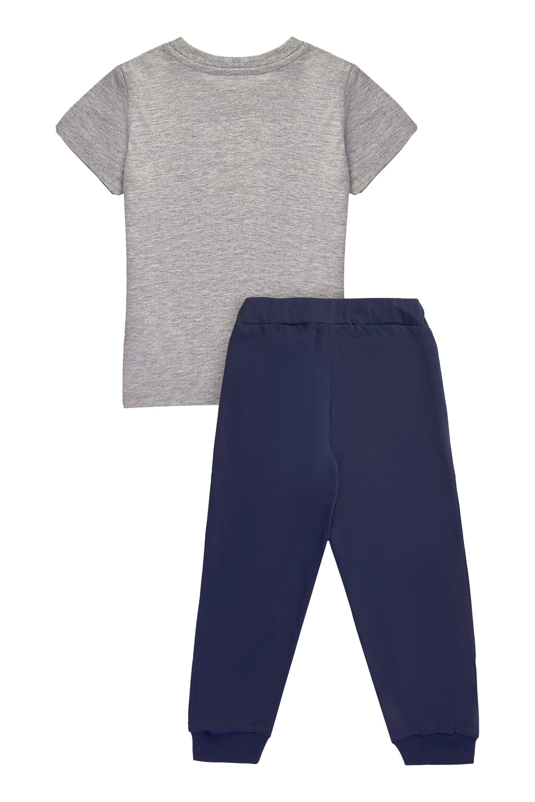 Chlapecké pyžamo Surf Club Navy/Šedý melanž