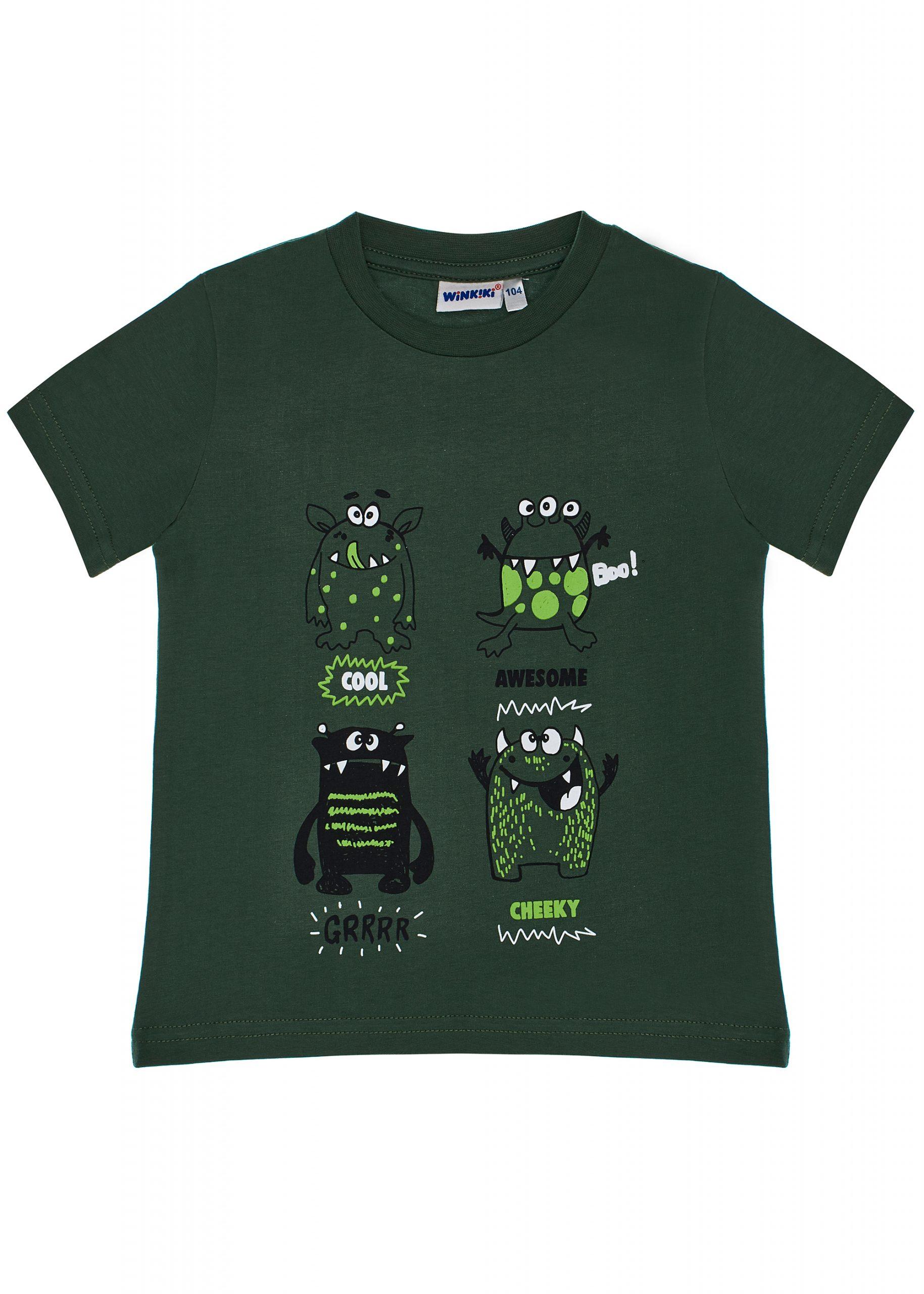 Chlapecké tričko Příšerky Khaki