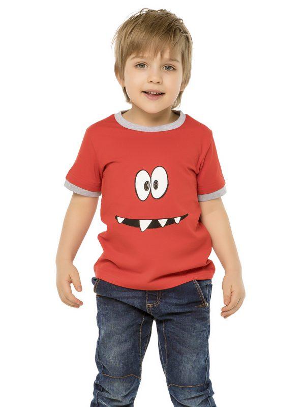 Chlapecké tričko Superpower - červená Červená, Šedý melanž