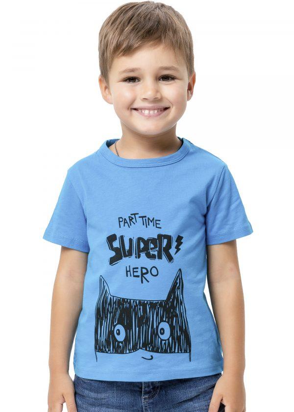 Chlapecké tričko Super Hero - modrá Modrá, Navy, Žlutá