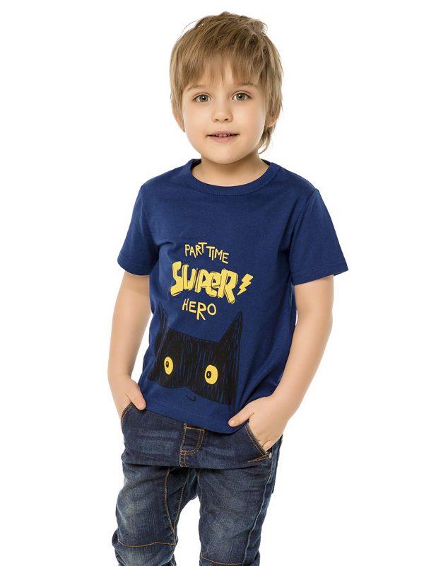Chlapecké tričko Super Hero - NAVY Modrá, Navy, Žlutá