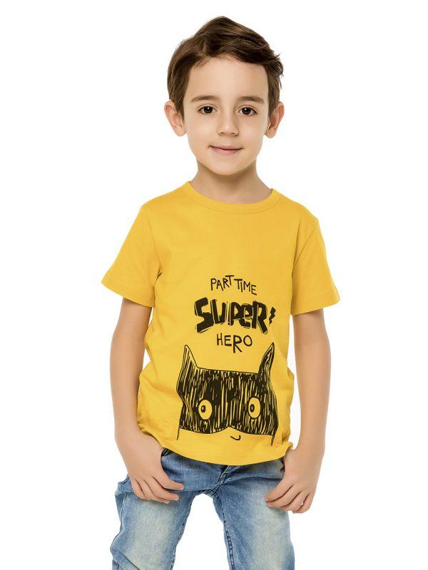 Chlapecké tričko Super Hero - žlutá Modrá, Navy, Žlutá