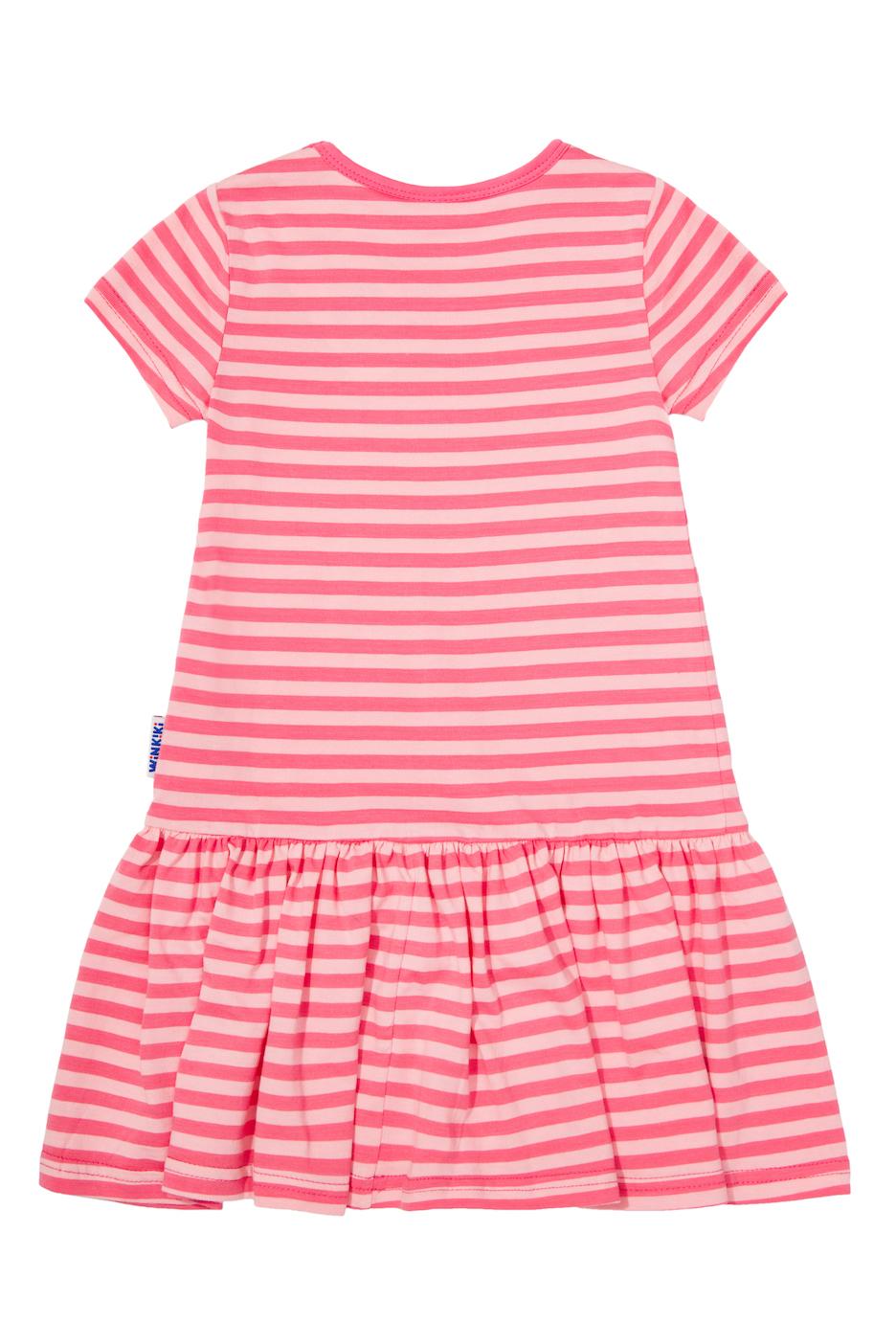 Dívčí šaty Travel - růžová Růžová - pruhy