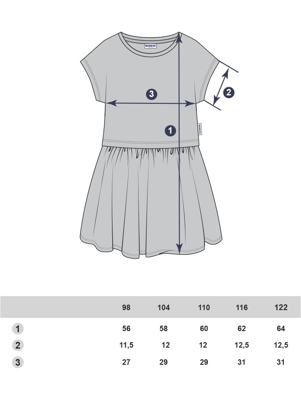 Dívčí šaty World tour Mátová