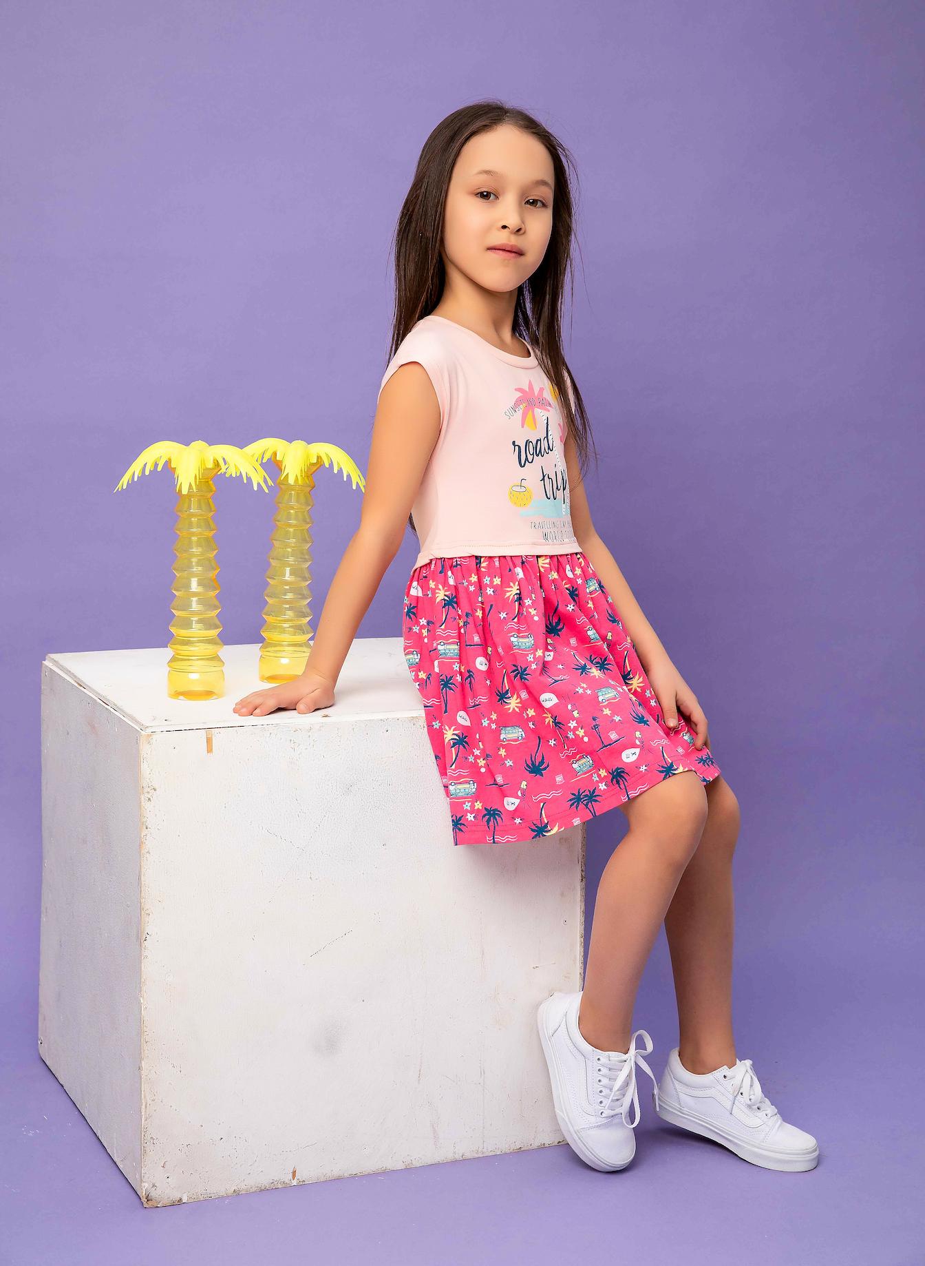 Dívčí šaty World tour - růžová Růžová