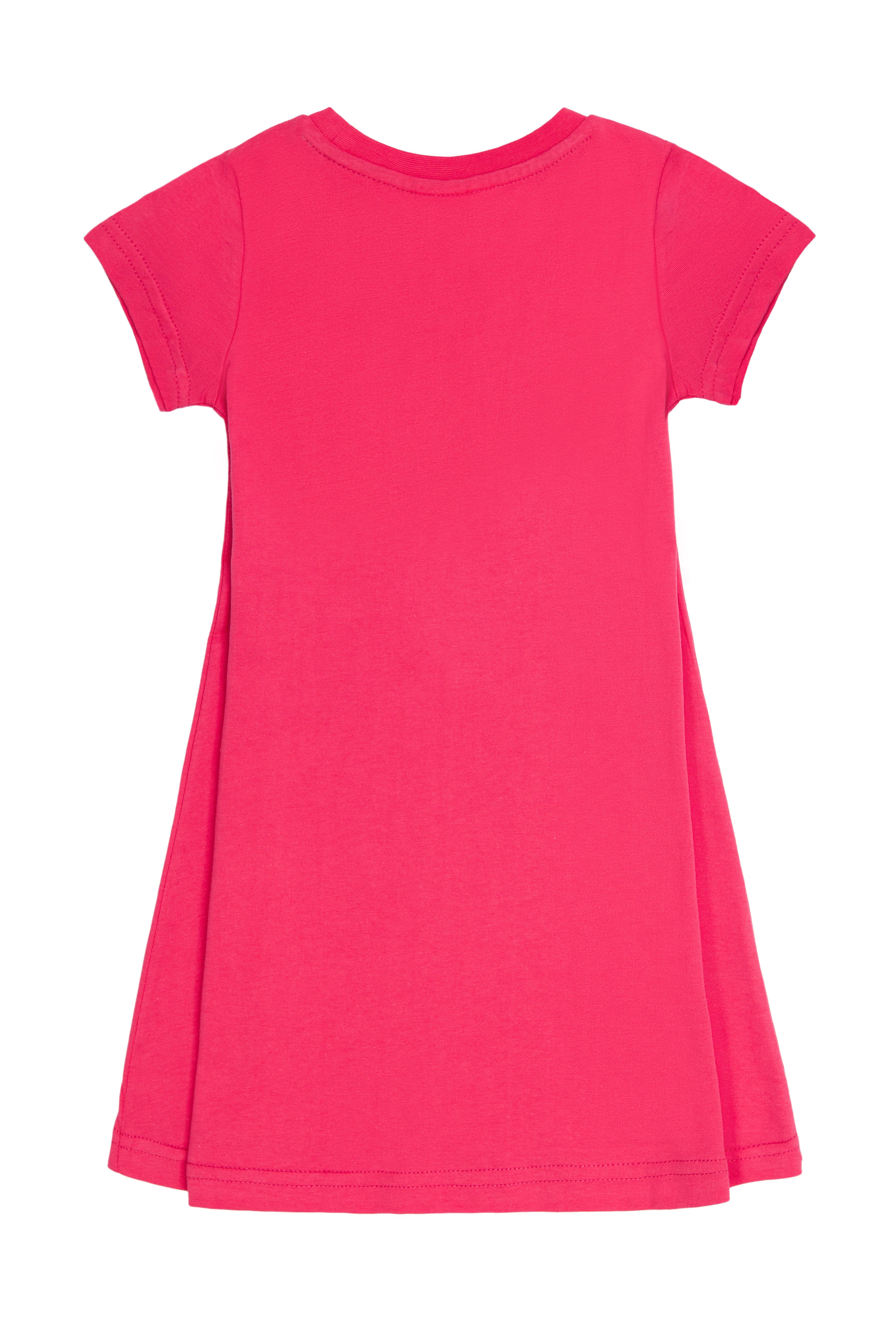 Dívčí šaty Basic - růžová Růžová