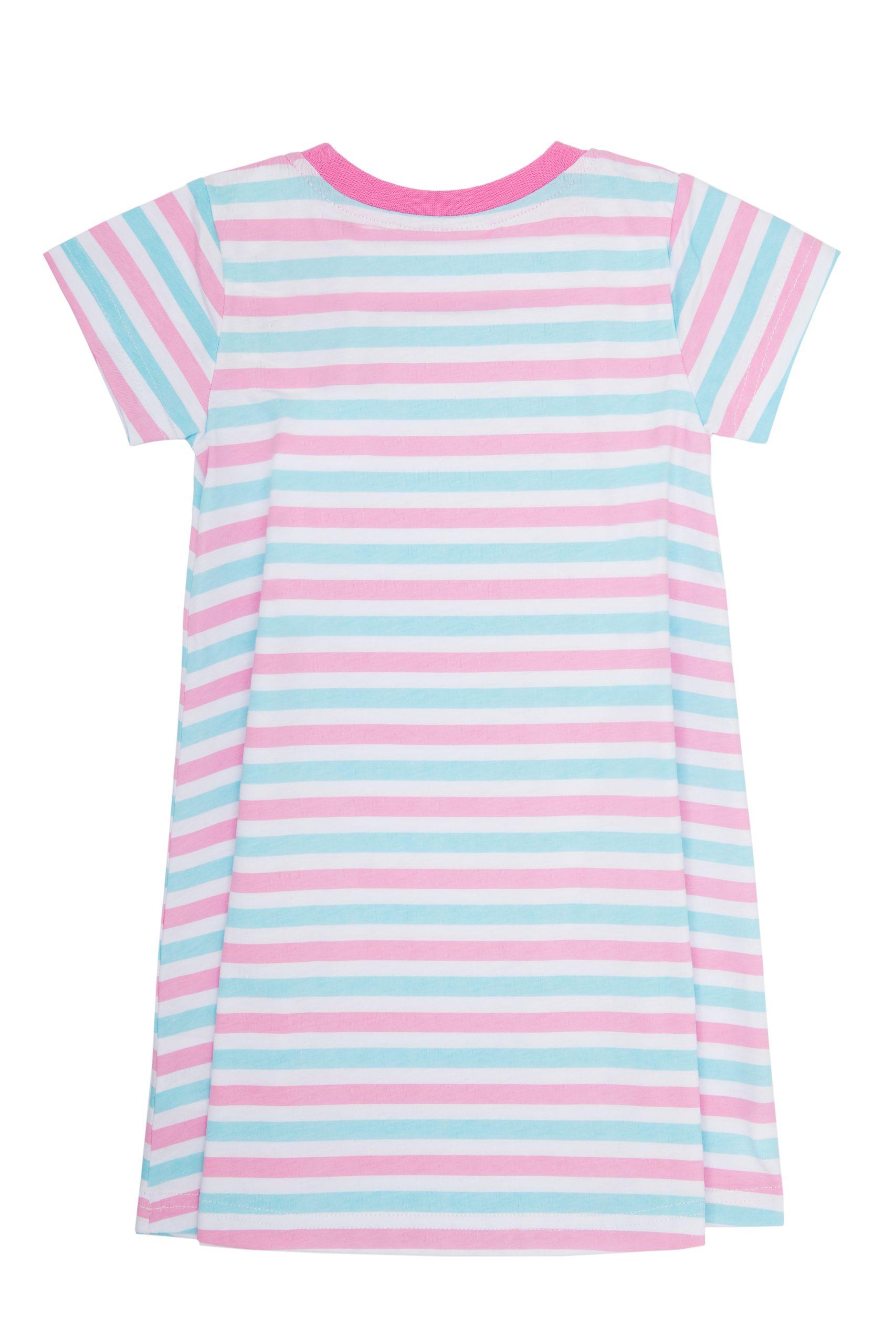 Dívčí šaty Basic - proužek Bílá - pruhy