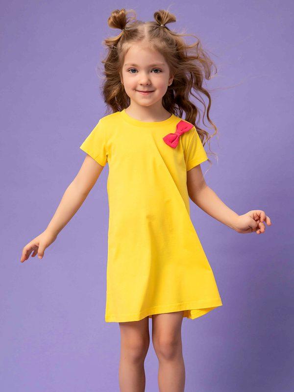 Dívčí šaty Basic - žlutá Žlutá