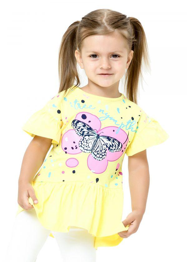 Elegantní dívčí tričko Tree Nymph - žlutá Bílá, Malinová, Žlutá