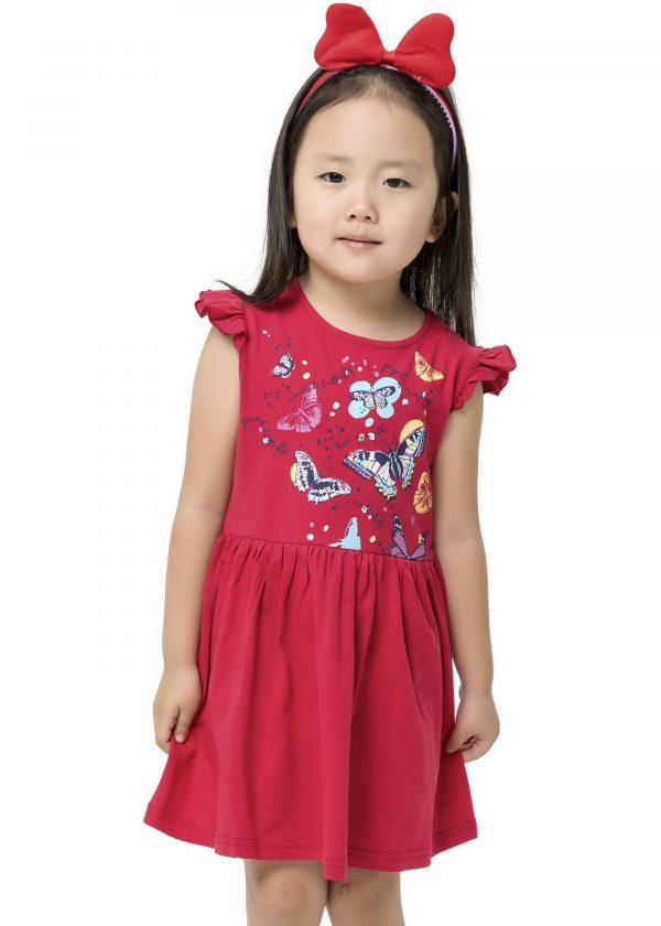 Dívčí šaty Motýlci Malinová
