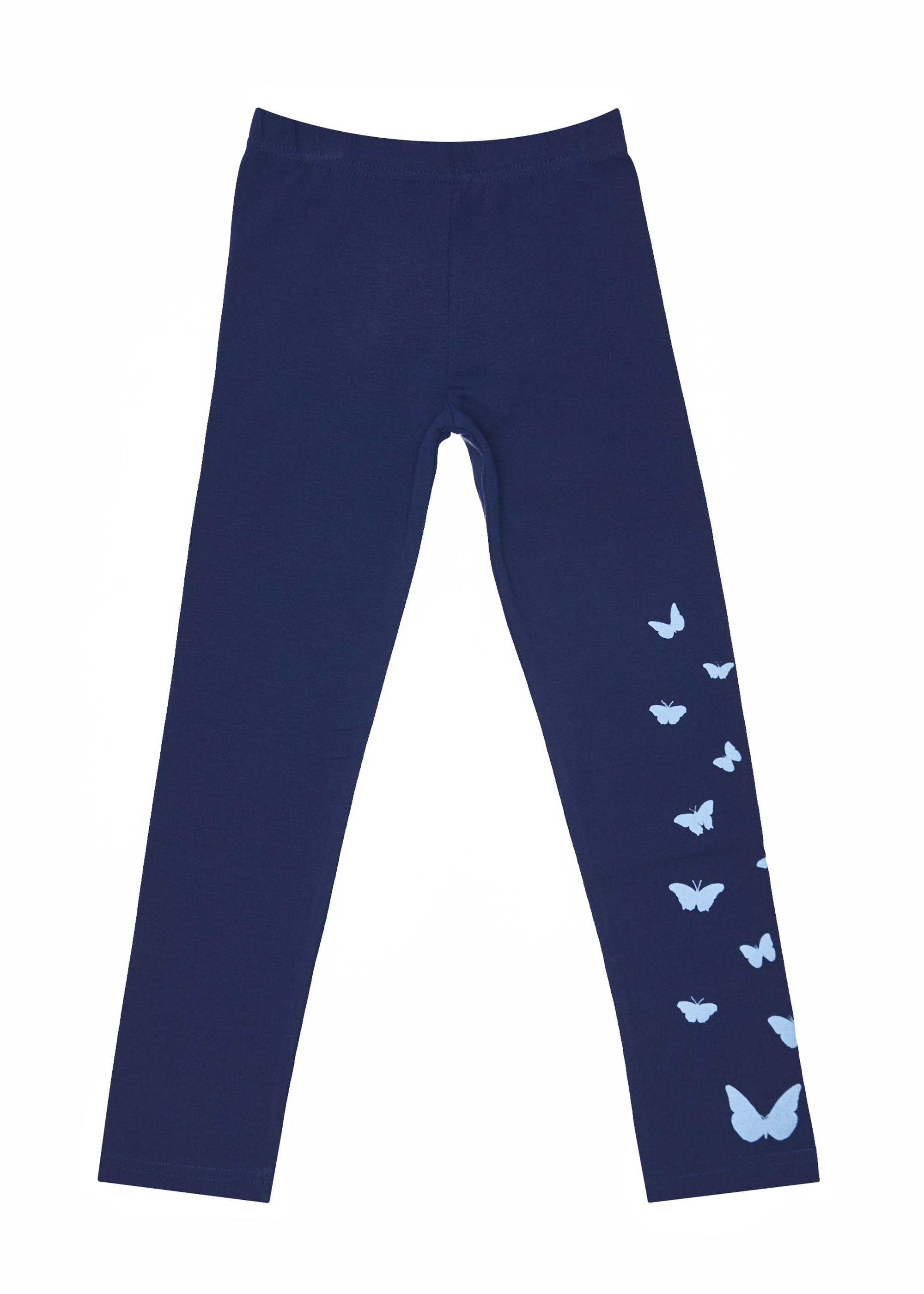 Dívčí legginy Butterfly - bílá Bílá, Malinová, Navy