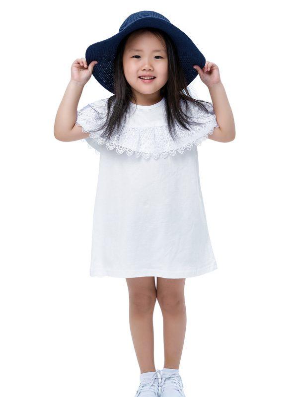 Dívčí šaty Elegant Bílá