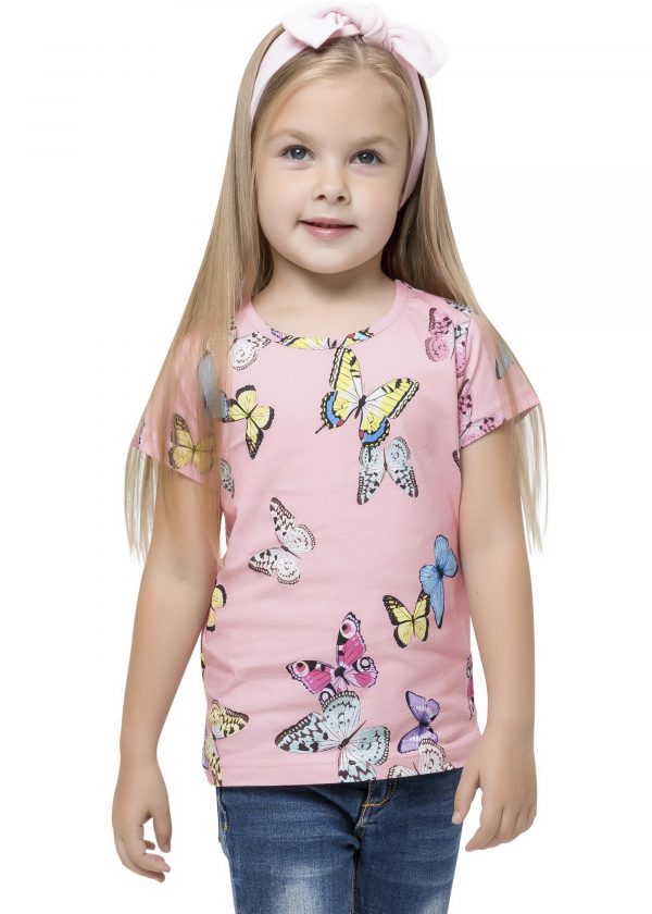 Dívčí tričko Motýlci - růžová Růžová