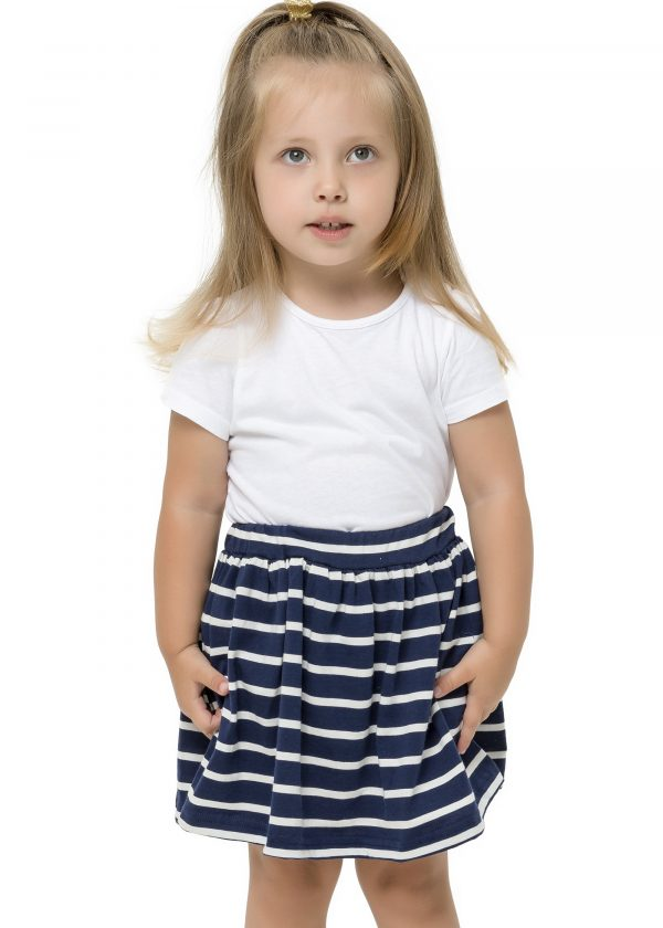Dívčí sukně Paris - NAVY Fuchsie, Navy/Bílá