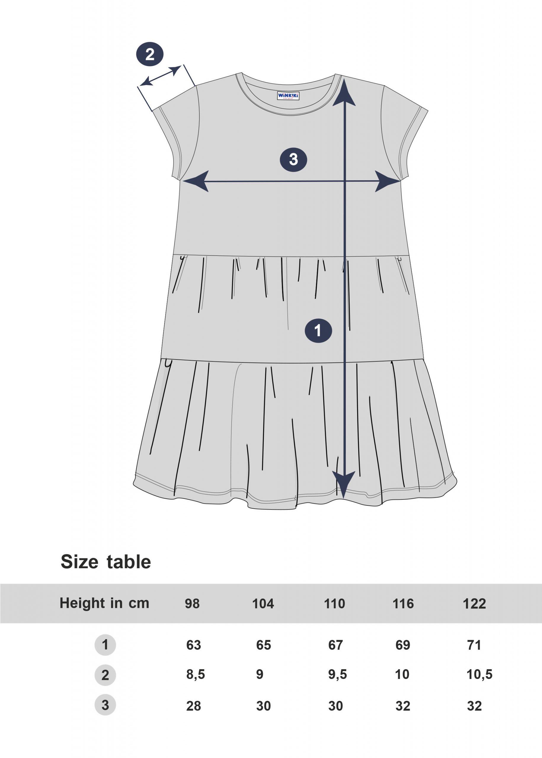 Dívčí šaty Paris - NAVY Navy/Šedý melanž