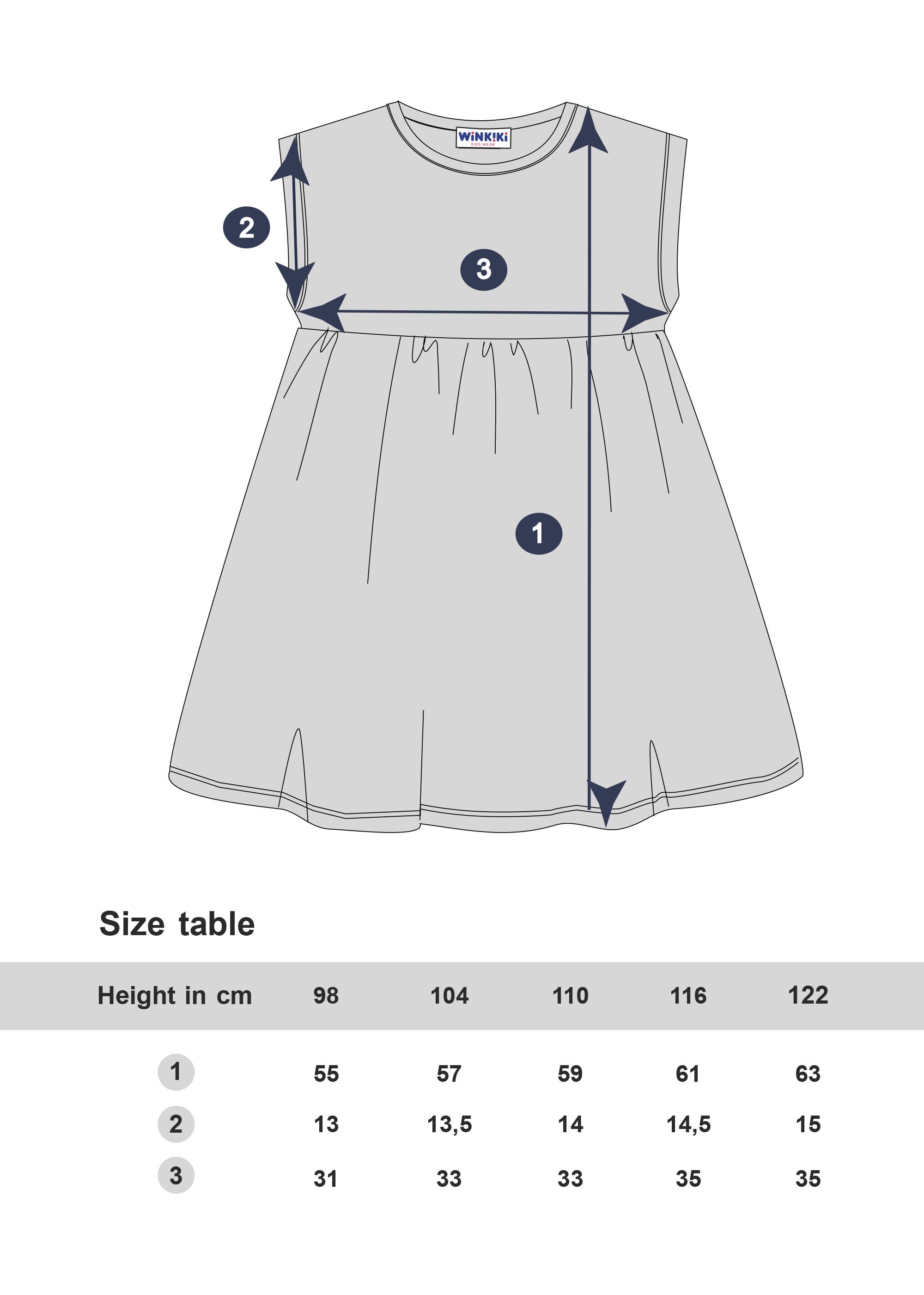 Dívčí šaty Love Paris - NAVY Navy