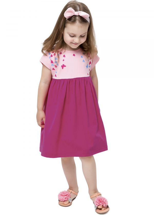 Dívčí šaty Love Paris Růžová/Fuchsie
