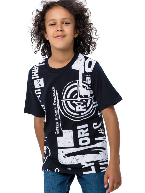 Chlapecké tričko Sport - černá Černá, Šedý melanž