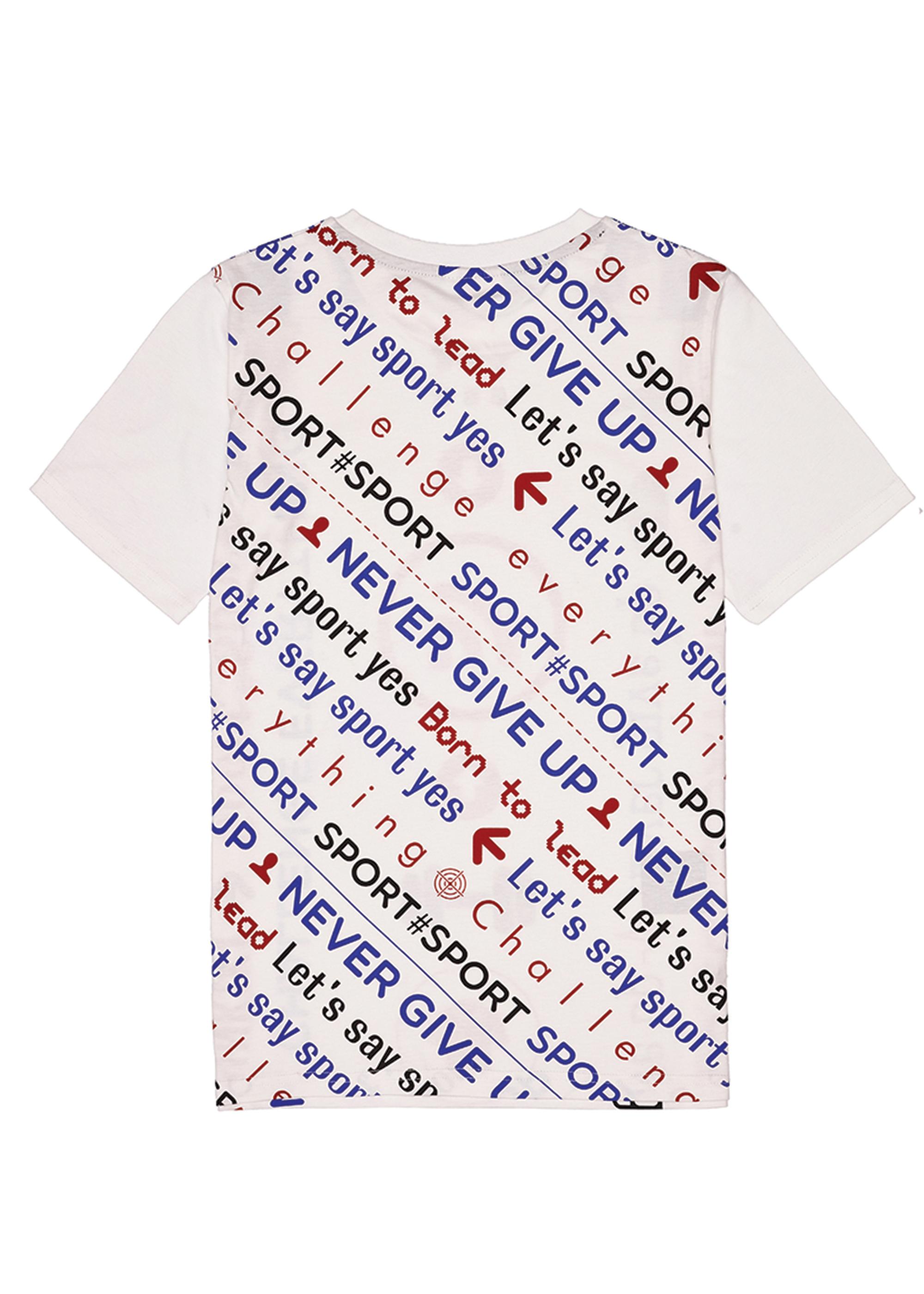 Chlapecké tričko Never Give Up Bílá