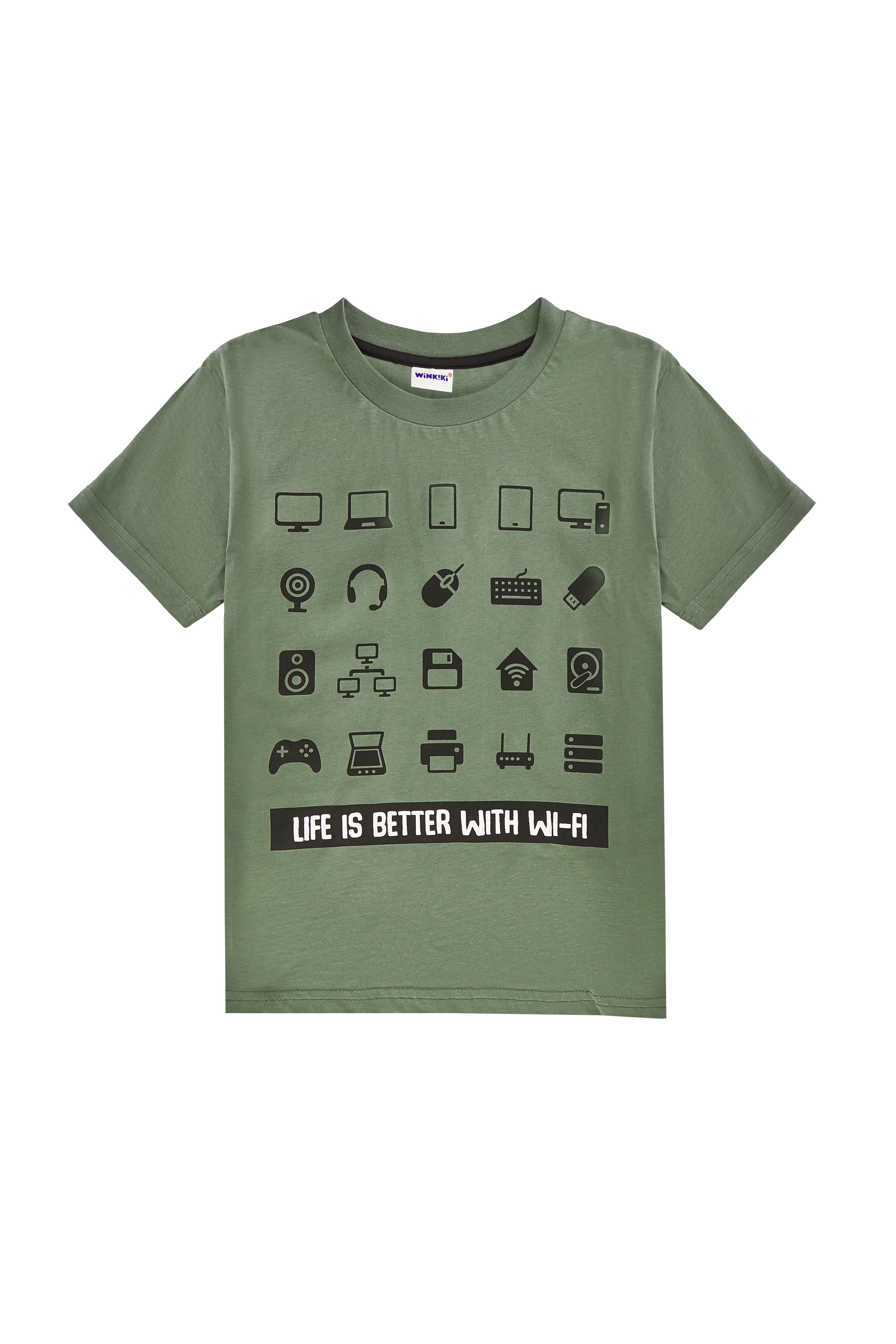 Chlapecké tričko American Gamer - černá Černá, Khaki, Modrý melanž