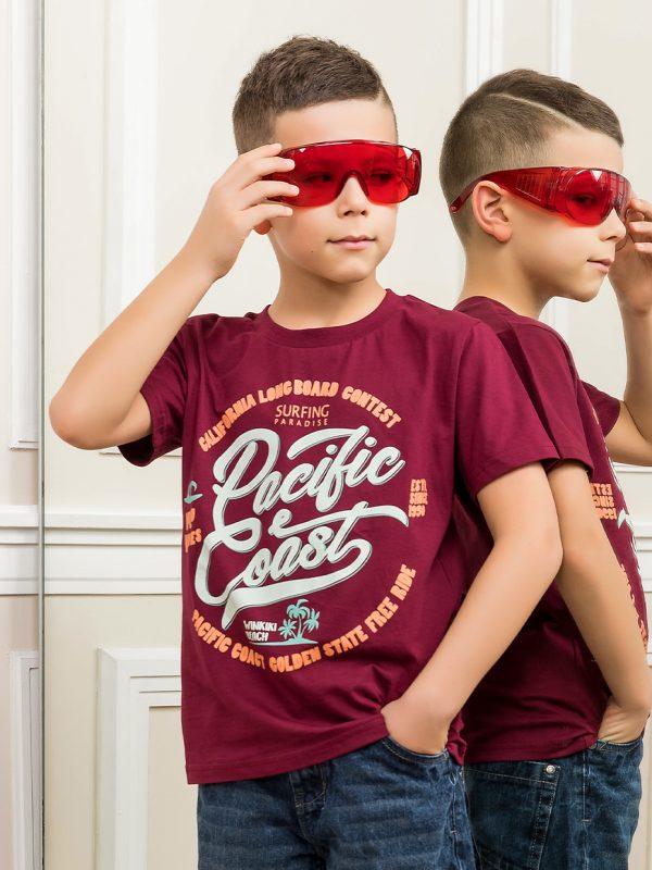 Chlapecké tričko Pacific Coast Bílá, Bordo