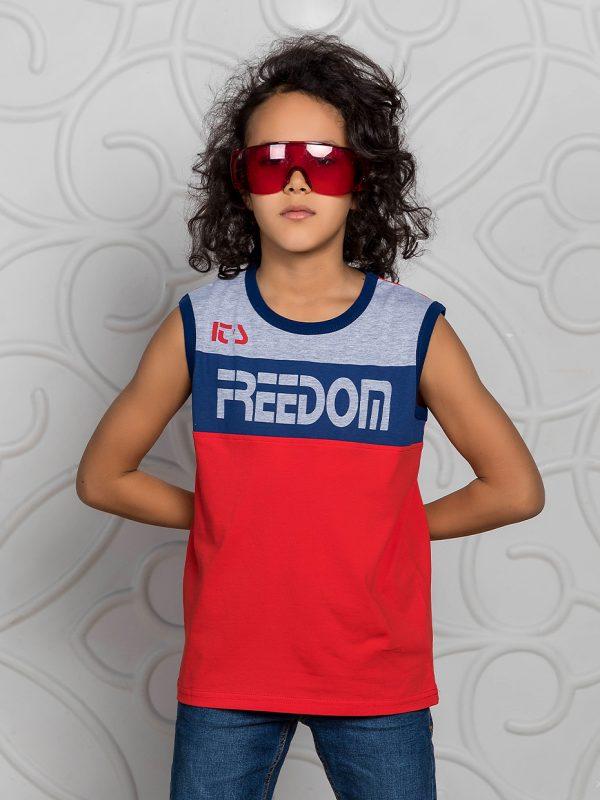 Chlapecké tričko Freedom - červená Černá, Červená/Navy