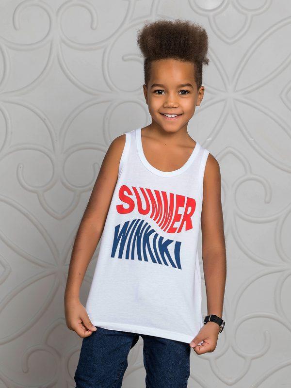 Chlapecké tílko Summer Winkiki - bílá Bílá, Černá