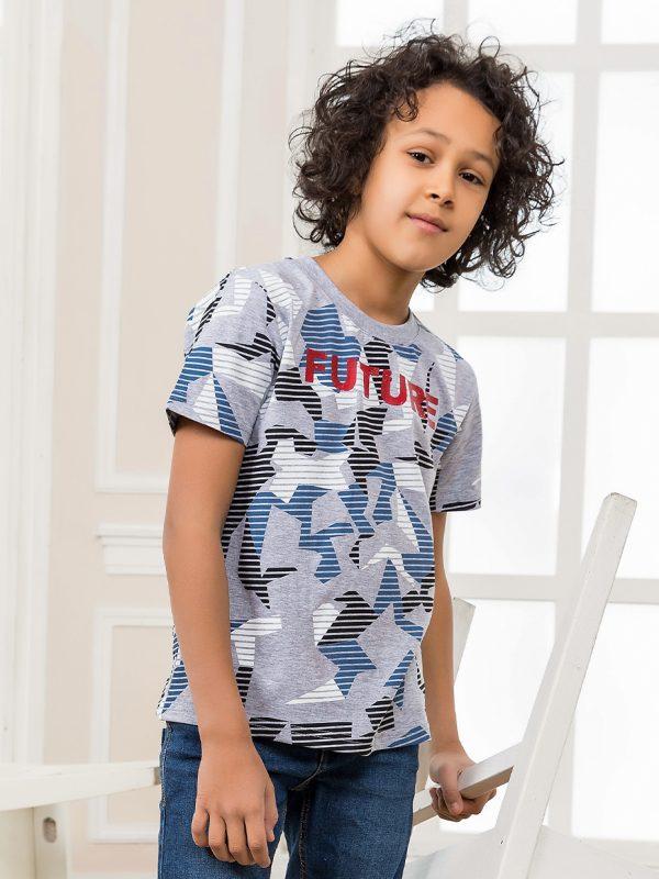 Chlapecké tričko Future - šedá Navy, Šedý melanž
