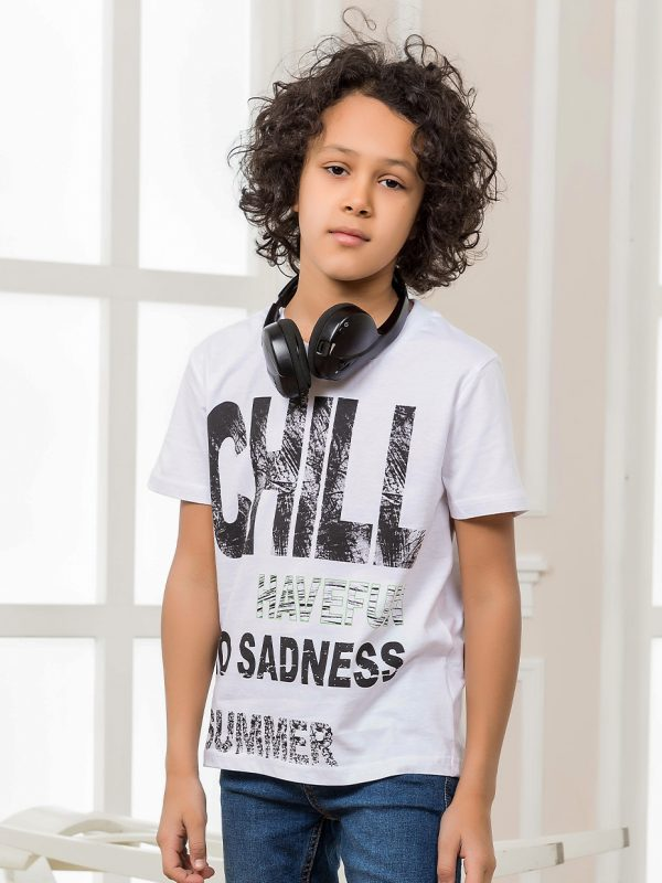 Chlapecké tričko Chill Bílá
