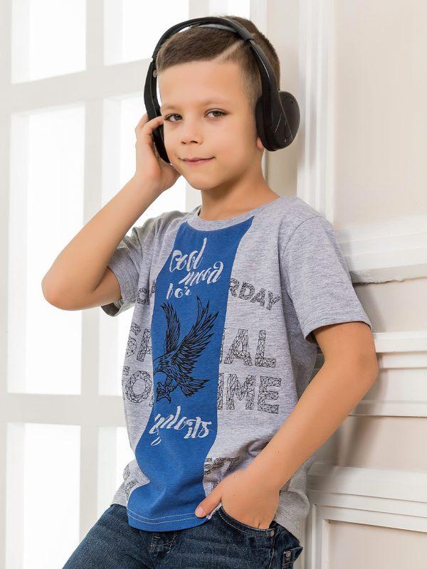 Chlapecké tričko Cool Mind - šedá Bílá, Šedý melanž