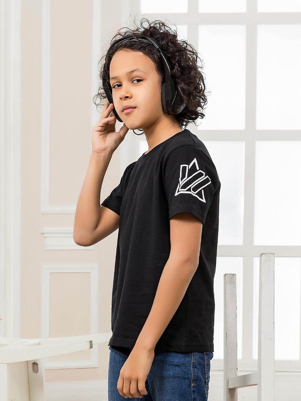 Chlapecké tričko MyVibe Black Černá