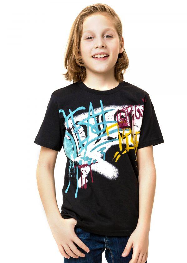 Chlapecké tričko Graffiti Černá