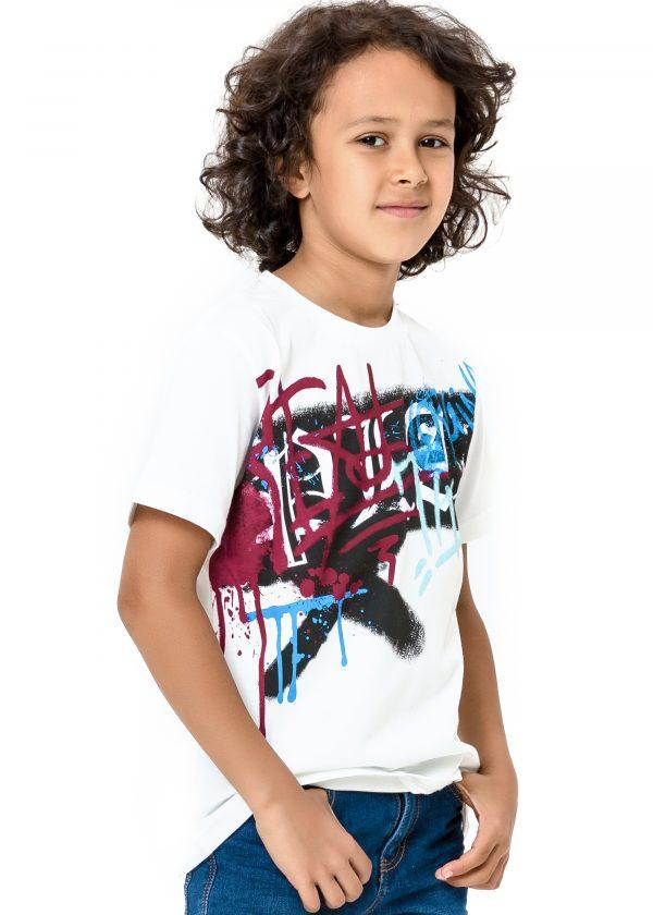 Chlapecké tričko Graffiti - bílá Bílá