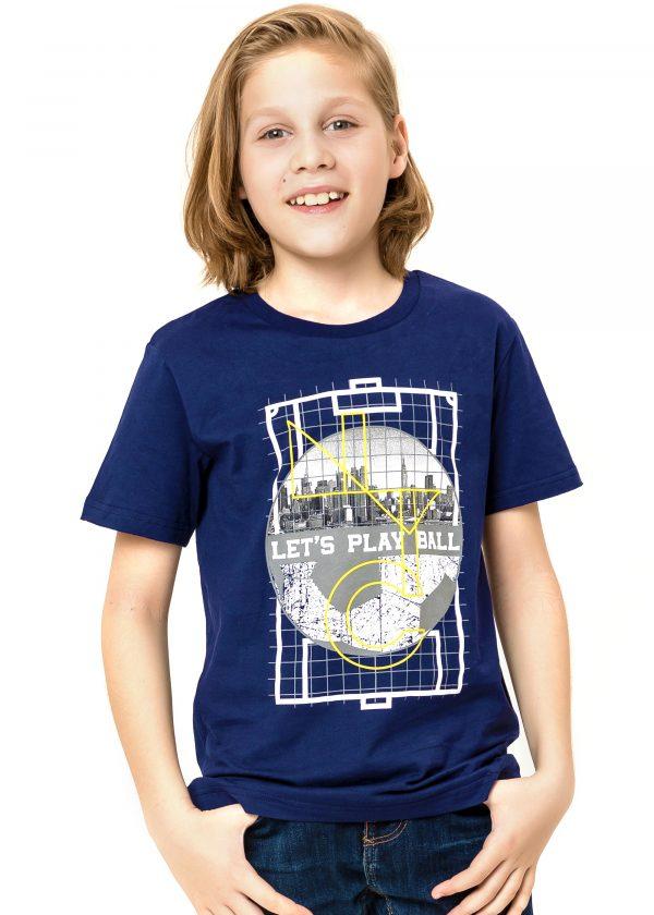 Chlapecké tričko Let's Play Ball Navy