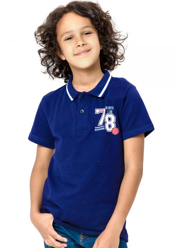 Chlapecké tričko Polo 78 - NAVY Bílá, Navy, Šedý melanž