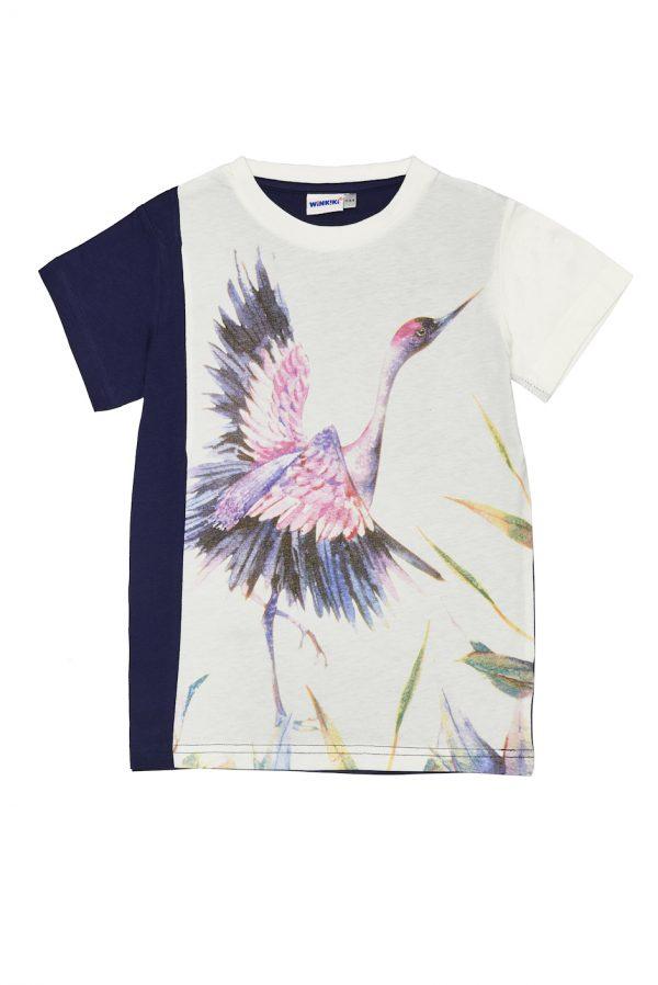 Dívčí tričko Own Magic - NAVY Navy/Bílá, Růžová/Tyrkysová