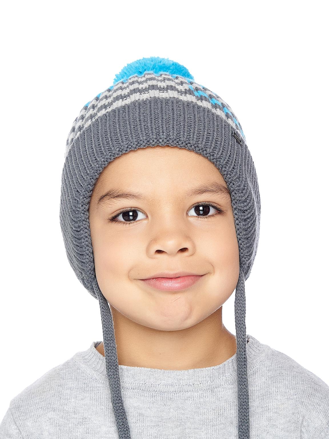 Chlapecká pletená čepice Ušanka Azure Šedá/Azurová